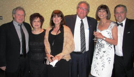Jeff Rubin Gala organizing committee: Mark and Michelle Huberman, Debbie and Howie Sniderman, and Gaylene and Jeff