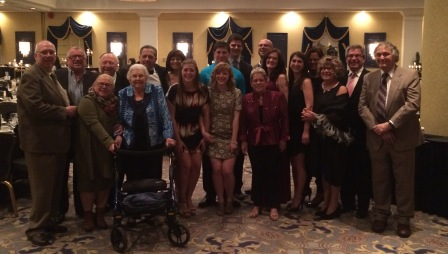 The extended family celebrates at the Beth Shalom Gala.