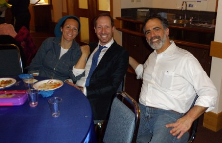 Rabanit Batya and Rabbi Daniel Friedman and Rabbi Kliel Rose were among the 350 plus crowd that celebrated Yom Ha'atzmaut in Edmonton this month