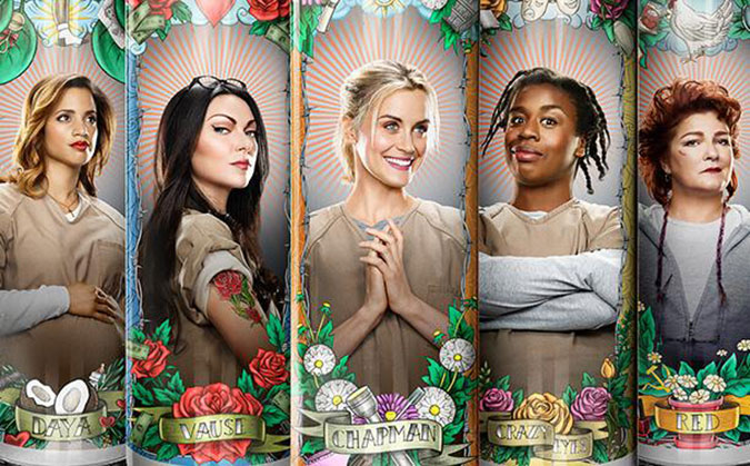 "Members of the cast of ""Orange Is the New Black."" (Courtesy of Netflix)"