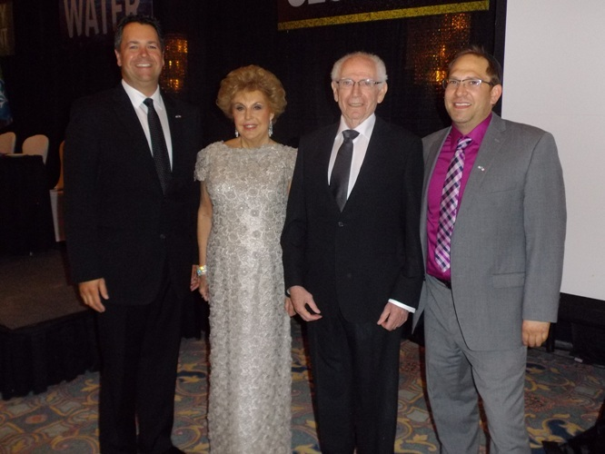 Joan and Abe with JNF Canada CEO Josh Cooper and JNF Edmonton Executive Director Jay Cairns.