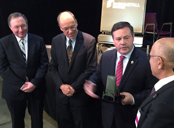 Minister of National Defence Jason Kenney meeting  with Israeli ambassador, Rafael Barak, and the people from ELTA Systems who will deliver the state of the art radar equipment.