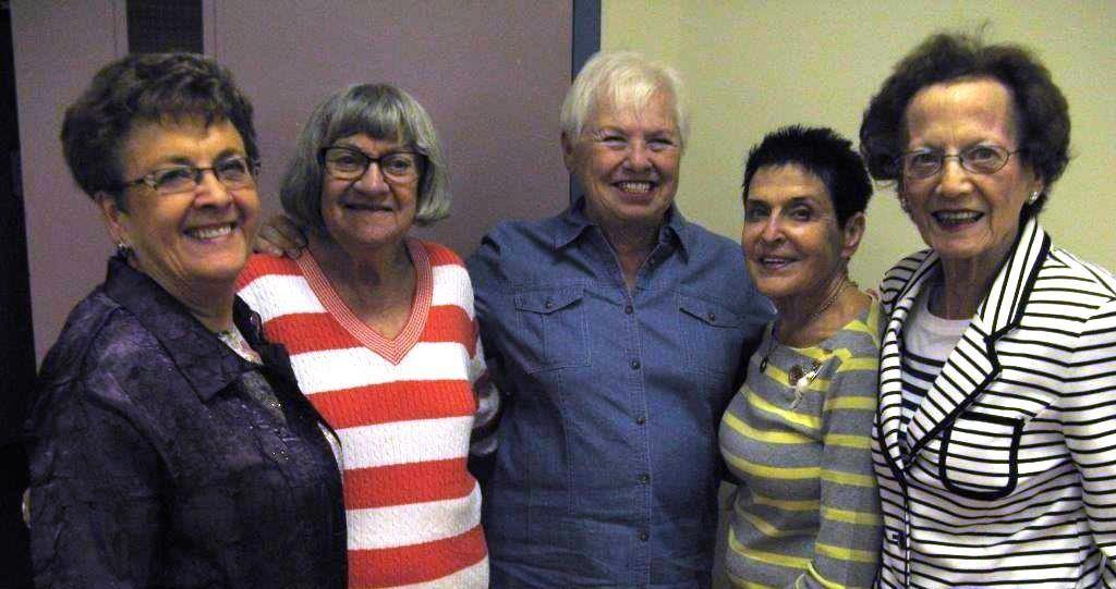 Aviva Founding Members, from left: Beryl Nahornick, Sandra Miller, Lynne Milner, Bev Sonmor and Bernice Milner.