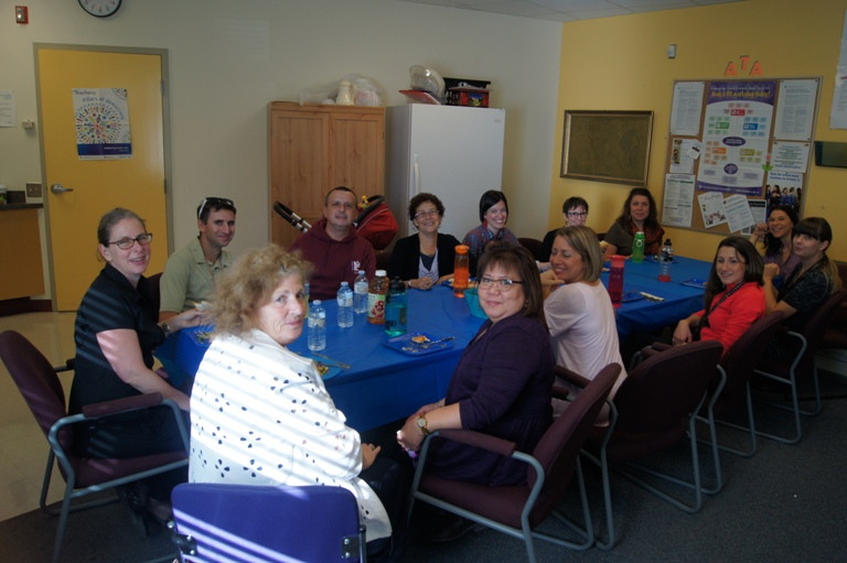 Talmud Torah teachers with the teachers from Emek Hahula School