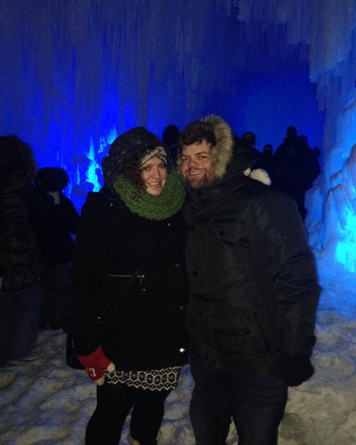 Brandon Jacoby, newly hired Constituency Manager for Edmonton McClung, Brandon Jacoby enjoyed the ice castle with his fiancee Racelle.