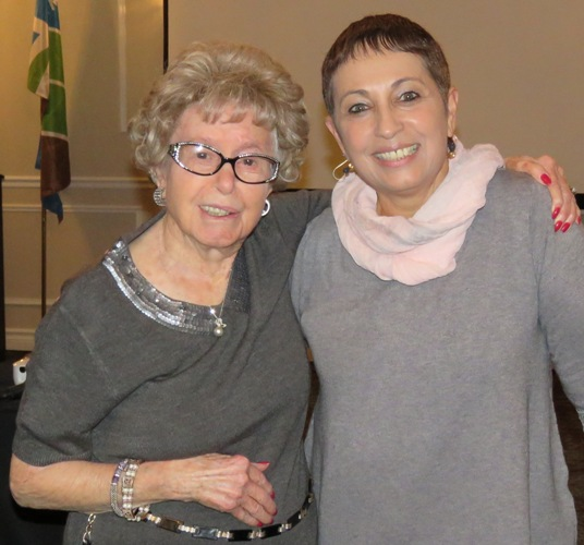 Community member 96 year old Hannah Pollock was most interested in the exceptional work being done in the Arava and at the AICAT. She is pictured above with AICAT Director Hanni Arnon.