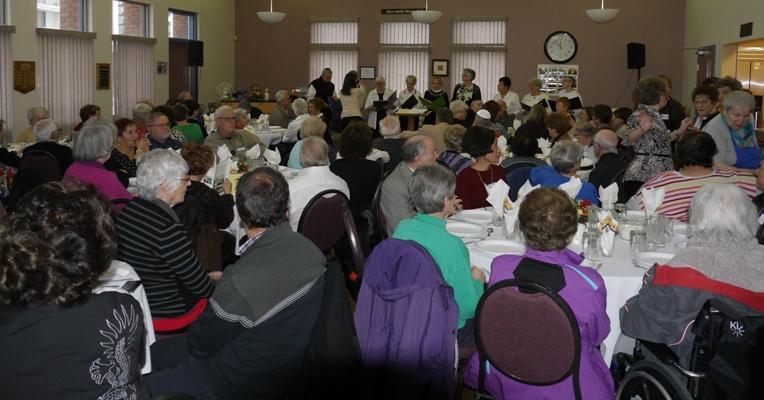 Holiday celebration at the Edmonton Jewish Senior Citizen's Centre.
