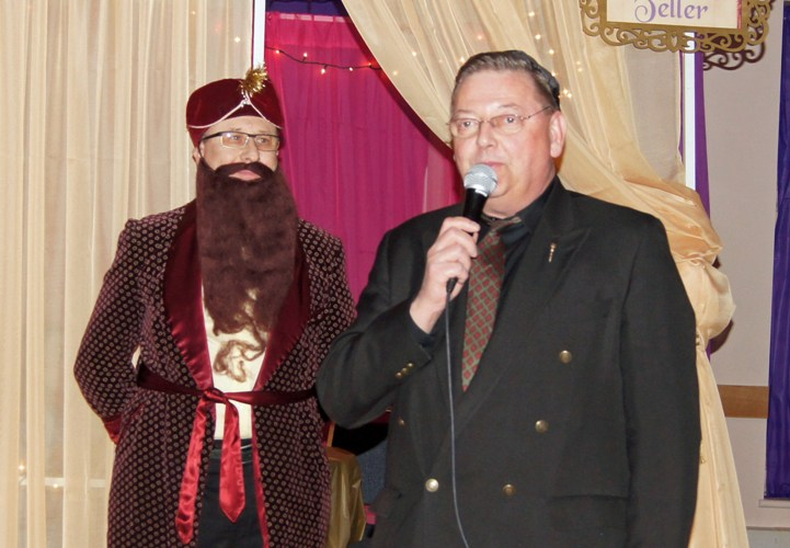 MLA Lorne Dach joins in the Purim fun