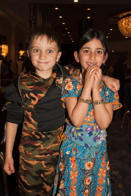Purim fun without the masks (Photo by Meital Siva)