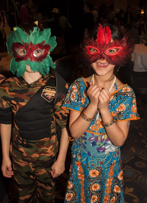 And now with the masks...(Photos by Meital Siva)