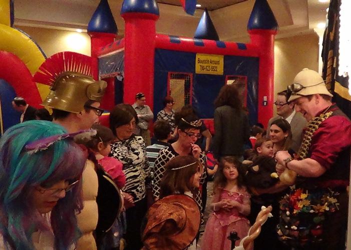 Purim fun at Chabad party