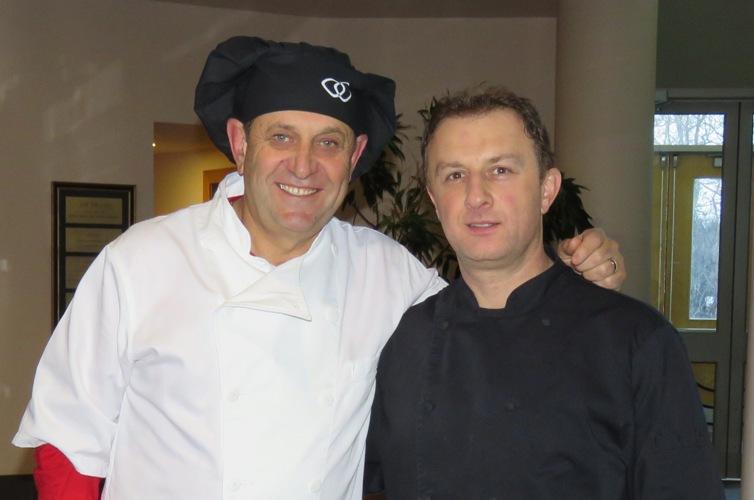 Beth Israel President Stan Kitay with Caterer Ed Yedgarova