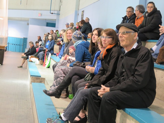 Lots of family members and friends came out to cheer on their favourite team.