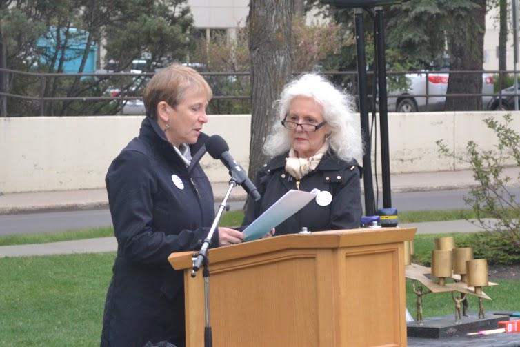 Holocaust Education committee members Stephanie Hendin and Gillian Horwitz