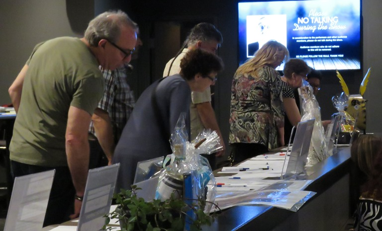 The event included a silent auction